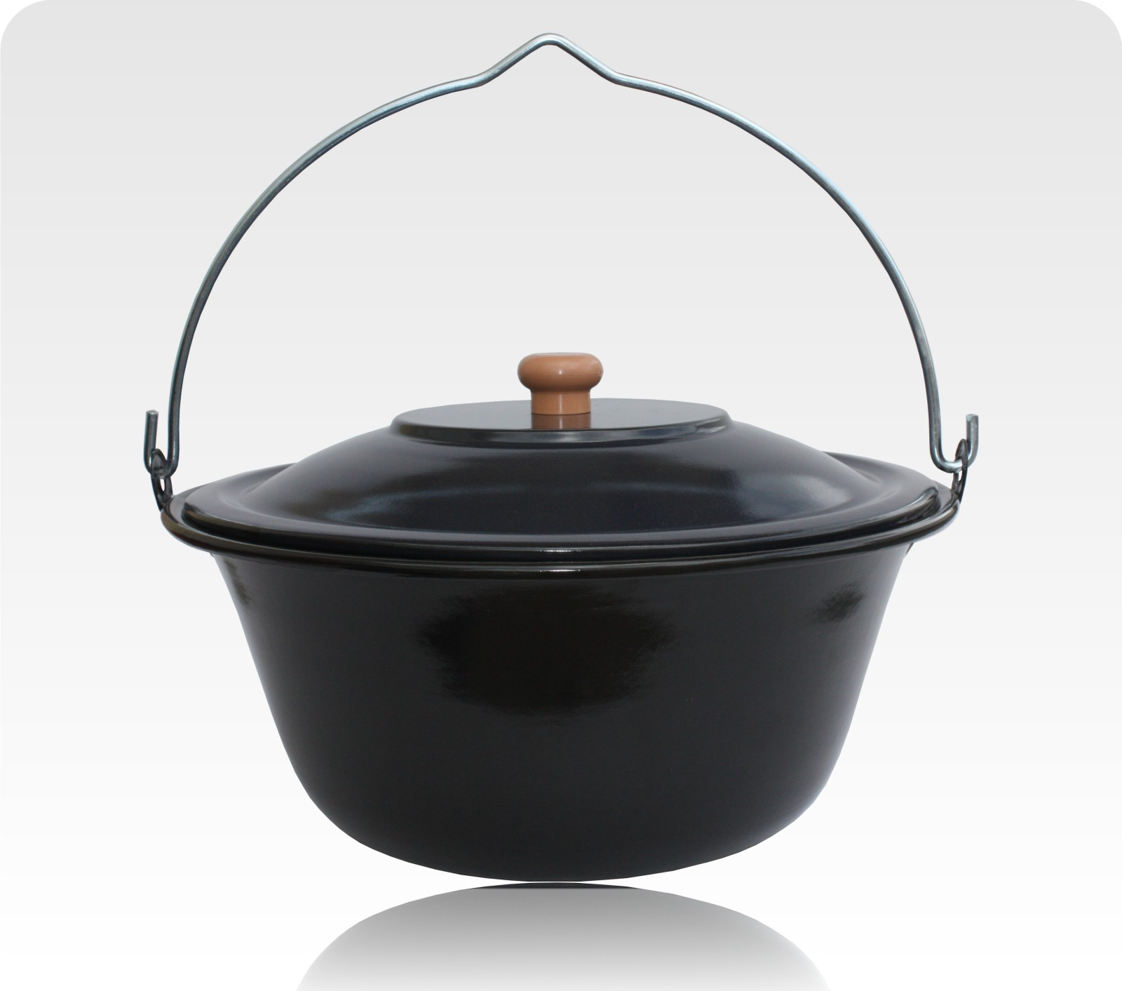 16l gulaschkessel emailliert deckel holzl ffel 5 rezepte 16 liter bogracs ebay. Black Bedroom Furniture Sets. Home Design Ideas