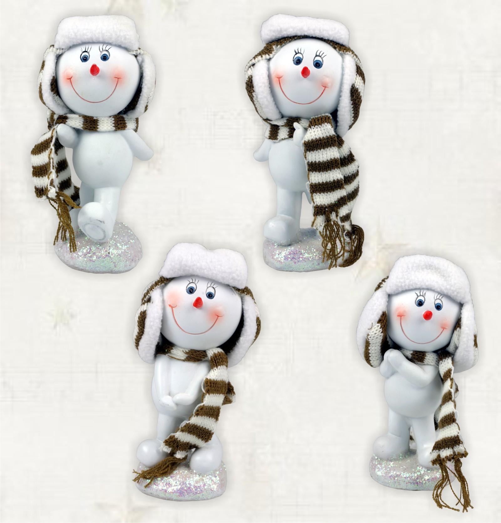 Polystone weihnachtsfiguren schneemann mit schal - Ebay weihnachtsdeko ...