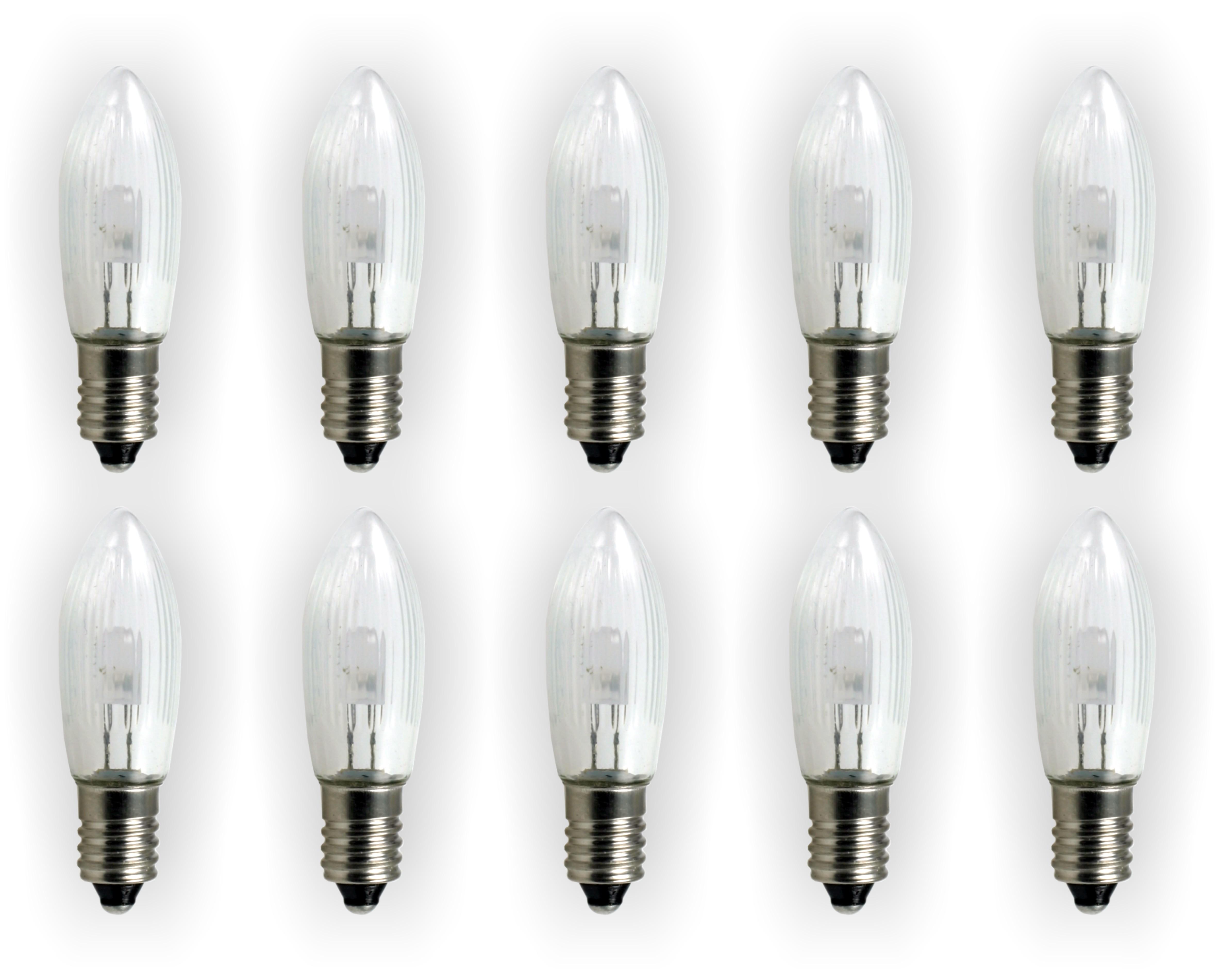 10 st ck e10 led ersatzlampen gl hbirnen topkerze f r lichterkette lichterbogen ebay. Black Bedroom Furniture Sets. Home Design Ideas