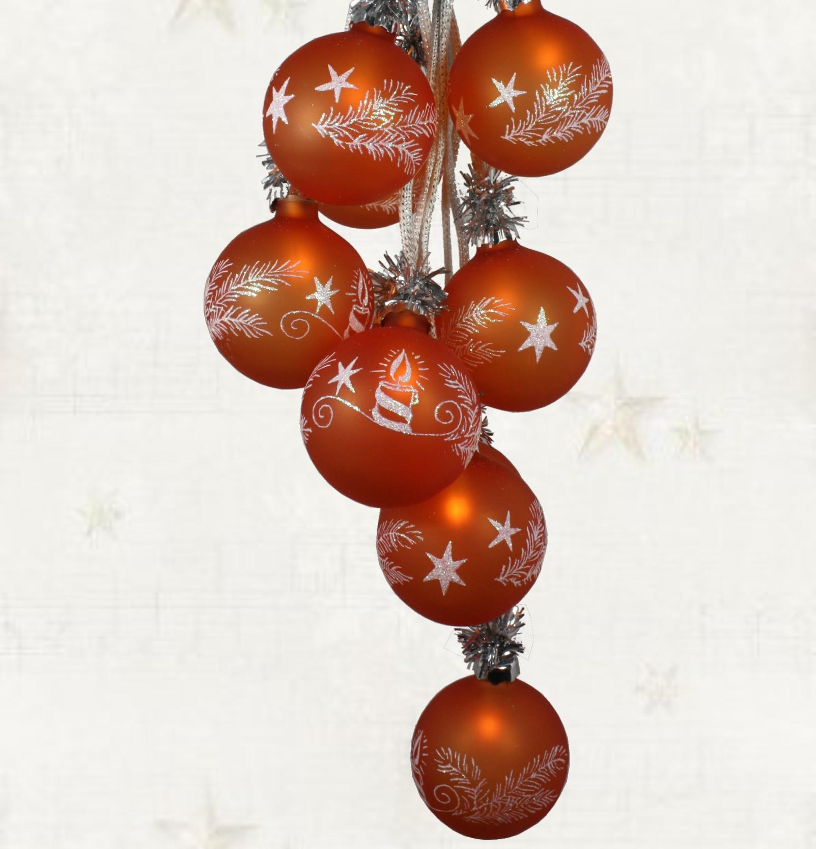 Weihnachtsdekoration beleuchtet glaskugelschmuck - Weihnachtskugeln fenster ...